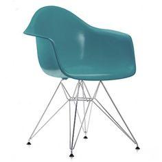 Vitra Eames DAR, blågrøn