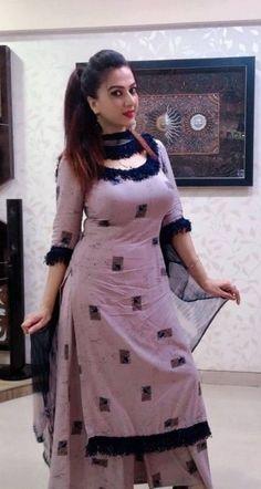 Beautiful Blonde Girl, Beautiful Girl Indian, Most Beautiful Indian Actress, Beautiful Girl Image, Salwar Designs, Kurti Designs Party Wear, Punjabi Salwar Suits, Indian Salwar Kameez, Sharara