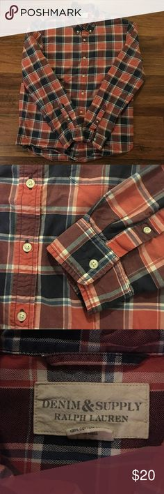Denim and Supply Button-up This shirt is in great used condition.  It is a size large, but fits more like a medium.  It is a comfortable addition to any wardrobe! Denim & Supply Ralph Lauren Shirts Casual Button Down Shirts