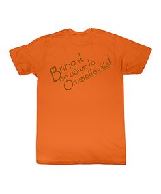 Take a look at this Orange 'Omeletteville' Tee - Toddler & Kids on zulily today!