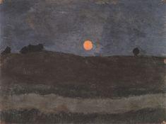 "Paula Modersohn-Becker (German, 1876-1907) - ""Moonlit Landscape"", c. 1900"