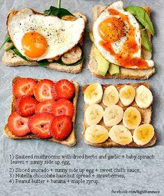 Use o pão integral como base para criar diferentes antepastos. Sejam salgados ou doces, esse é um tipo de carboidrato que também tem fibras e que ajuda na dieta!