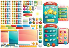 Buy Casual Mobile Game GUI For UI Graphic Assets | Chupamobile.com