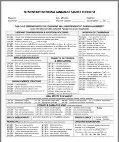Speech Language Pathology, Speech And Language, Classroom Observation, Teacher Checklist, Classroom Language, Speech Therapy, Preschool Assessment, Autism Activities, Data Collection