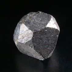 Cobaltite, CoAsS, Skuterud, Modum, Buskerud, Norway. Size: 0.5 × 0.5 × 0.4 cm. An (almost) perfect crystal of cobaltite from this classic locality