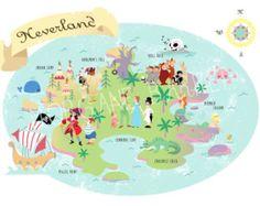 Impression A4 carte Neverland Peter Pan