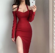 Lifestyle Shop, Minimal Chic, Retro Chic, Online Clothing Stores, Korean Beauty, Casual Wear, Bodycon Dress, Long Sleeve, Sexy