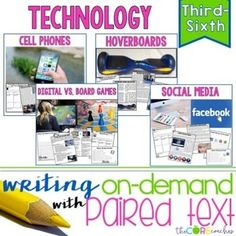 Technology Paired Texts Bundle: Writing On-Demand Opinion Argumentative Essay