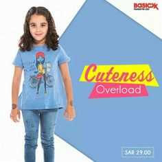 Give #adventures a head start for your little #princess with this #graphic blue tee. Shop now.  #Basicxx #BasicxxKids #BasicxxOnline #Riyadh #Jeddah #Dhahran #InspirationFulfilled