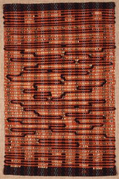 anni albers / from the east. 1963. cotton and plastic. 65.4x42cm.