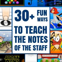 30+ Fun Ways To Teach The Notes of The Staff Using Technology