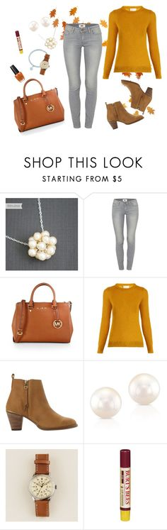 """Pumpkin day"" by marijime-paperdoll ❤ liked on Polyvore featuring Paige Denim, MICHAEL Michael Kors, Simon Miller, Steve Madden, Anne Sisteron, J.Crew and OPI"