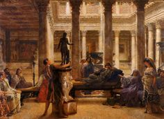 """A Roman Art Lover"", 1870, by Sir Lawrence Alma-Tadema (Dutch, 1836-1912)."