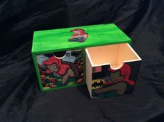 Poison Ivy Hand Decorated Storage box with 2 compartments