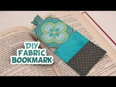 ▶ DIY Fabric Bookmark {EASY} - Whitney Sews - YouTube