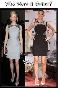 Who Wore Versace Better - Elizabeth Banks vs Heidi Klum