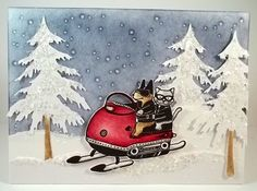 F4A197 Frosty Snowmobile Ride