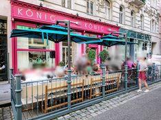 Gastroschirme  - Ampelschirm - Maßanfertigung  - Integriert im Zaun - Fino Fair Grounds, Neon Signs, Travel, Fine Dining, Fence, Viajes, Destinations, Traveling, Trips