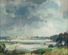 Blytheburgh (Beccles across the Marshes) by John Alfred Arnesby Brown
