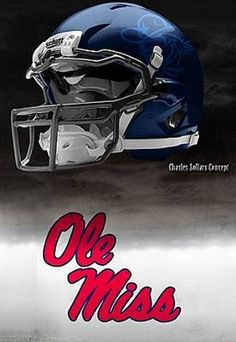 Ole Miss - University of Mississippi Rebels - concept football helmet