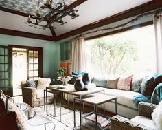 BONESTEEL TROUT HALL // NAPA SHOWHOUSE // Tree branch as curtain rod.