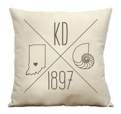 Personalized Kappa Delta Icons Cotton Canvas Sorority by Sororitee, $20.00