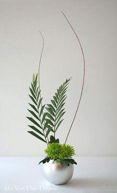 For mini green design Ikebana Arrangements, Ikebana Flower Arrangement, Flower Vases, Floral Arrangements, Cactus Flower, Contemporary Flower Arrangements, Creative Flower Arrangements, Beautiful Flower Arrangements, Beautiful Flowers