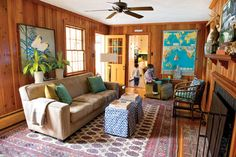 Lesley And Jeff Glotzl Combine Creativity Thriftiness To Transform A Suburban Split Level In Richmond Va Decorating Home Photo By Todd Wright