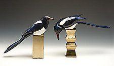 "Magpies by Dona Dalton (Wood Sculpture) (11.25"" x 15"")"