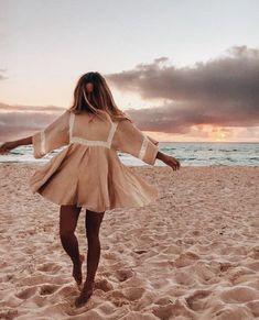 Beachy Outfits Discover Boho Patchwork Lace Dress O-Neck Kimono Boho Patchwork Lace Dress O-Neck Kimono TopFashionova Summer Outfits, Cute Outfits, Summer Dresses, Beach Outfits, Looks Hippie, Boho Kimono, Boho Dress, Mode Boho, Looks Style