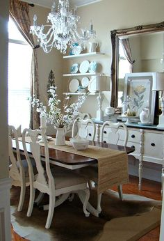 our summer dining room french country cottagecountry - Country Cottage Dining Room Ideas
