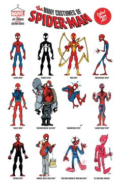 The many costumes of Spider-Man [Amazing Spider-Man annual Marvel Funny, Marvel Memes, Marvel Dc Comics, Marvel Avengers, Spiderman Art, Amazing Spiderman, Scarlet Spider, Marvel Drawings, Comic Kunst