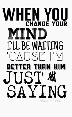 Just Saying by 5SOS❤