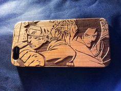 Naruto wood Phone Case - Naruto & Sasuke Inspired - Laser Engraved Personalised Gift - iPhone 5 6 plus - 43 Naruto Shippuden Sasuke, Naruto And Sasuke, Itachi, Boruto, Cool Phone Cases, Iphone Cases, Iphone 7, Naruto Merchandise, Naruto Cosplay