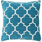 KLiving Sofia Geometric Cushion Cover Teal 43x43cm(Pack of 2)