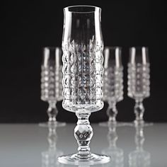 4 Vintage Thomas Germany Sektgläser Sektglas Kristall Glas Gläser K67