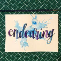 Endearing #happyletteringchallenge @happyletteringchallenge  #calligraphy #calligraphie #moderncalligraphy #brushcalligraphy #brushlettering  #typography #handtype #handlettering #word #font #lettering #handlettered #handwriting #brushlettered #letteringchallenge  #dailylettering #calligraphylove #design #art #inspiration #followme #brushpen #watercolor #brushscript #handwritten #lettering #scriptlettering #calligritype #goodtype
