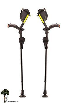"Ergobaum® Prime By Ergoactives. 1 Pair (2 Units) of Ergonomic Forearm Crutches – Adult 5′ – 6'6"" Adjustable.  http://www.cheapindustrial.com/ergobaum-prime-by-ergoactives-1-pair-2-units-of-ergonomic-forearm-crutches-adult-5-66-adjustable/"