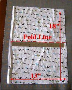 1. Boho Bag Pocket Rectangel showing fold line