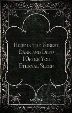 Here in the forest dark and deep, i offer you eternal sleep. This sounds like a line from a spooky story. I& love to read an awesomely scary story where this line is uttered in the dark by the villain. Halloween Humor, Halloween Tags, Halloween Kunst, Mexican Halloween, Halloween Graveyard, Happy Halloween Banner, Happy Halloween Video, Story Inspiration, Writing Inspiration