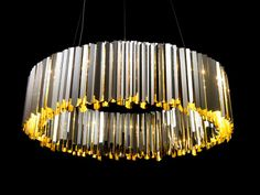 Facet Chandelier by Tom Kirk for Innermost. I'd love it in copper