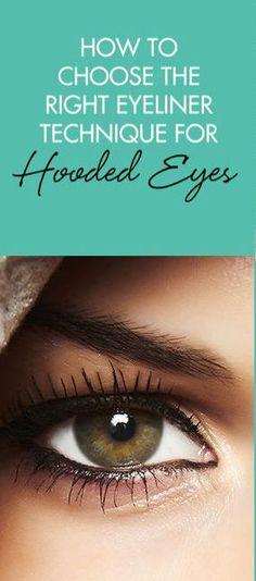Eyeliner Tricks for Hooded Eyes Eye Tricks, Eye Liner Tricks, Beauty Art, Beauty Make Up, Hair Beauty, Beauty Secrets, Beauty Tips, Beauty Hacks, Le Face