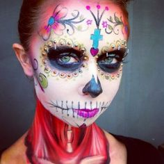 MUA Dani Fonseca created this #DayofTheDead look at 2012's The Makeup Show Europe. #halloween