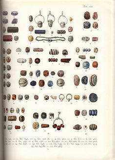 Beads. From Birka I by Holger Arbman