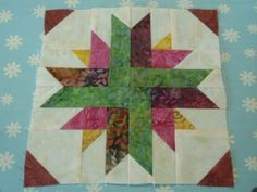 Quilt Block Tutorial: Quasar A quasar is a spinning star. That seemed an appropriate name for this block, designed specially for the Desperate Housewife's Quilt-as-you-wish-Along. Finished size 8″ (rough size 8-1/2″)