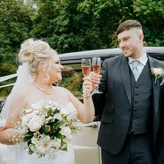 A happy newlywed couple smiling at each other and toasting with wine glasses on their wedding day Photography Ideas, Wedding Photography, North Wales, Retro Cars, Newlyweds, Weddingideas, Rustic Wedding, Groom, Teal