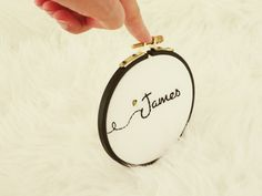 Customizable Baby Name, Embroidered Name, Custom Embroidery Hoop Art, Hand Stitched Wall Art, Nursery Decor, Baby Shower Gift, Hoop Art by happyfacecraft on Etsy