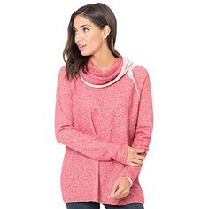Women Fashion Pink Raw Edge Cowl Neck Pullover Sweatshirt * Be sure to check out this awesome product. (This is an affiliate link and I receive a commission for the sales) #FashionHoodiesSweatshirts