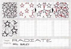 Radiate - a tangle pattern