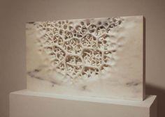 "Michael Kukla's sculpture ""Beneath Sky."", marble"